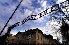 AUSCHWITZ - De poort van het vernietigingskamp Auschwitz-Birkenau is ¬Arbeit macht Frei¬ te lezen. Donderdag 27 januari is het 55 jaar geleden dat Russische troepen het kamp bevrijdden. In Auschwitz werden vier tot vijf miljoen gevangenen in de loop van de oorlog bijeengebracht, onder wie 1,5 miljoen joden, die bijna allen omkwamen. Bij de bevrijding troffen de Russen slechts 5000 overlevenden aan. ANP Foto - Koen Suyk