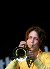 ROTTERDAM - Vrijdag vindt de eerste dag plaats van het North Sea Jazz festival in Ahoy in Rotterdam. Het is voor de tweede keer dat het festival in Rotterdam wordt georganiseerd. Trompetist Rob van de Wouw. ANP PHOTO ROBERT VOS