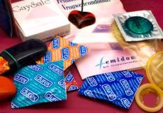 AMSTERDAM - Assortiment condooms. ANP PHOTO XTRA KOEN SUYK