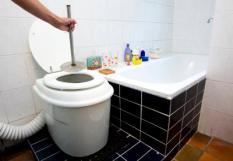 BOXTEL - Waterloos toilet, de nonolet. Dit toilet heeft geen aansluiting nodig op het riool en kan overal geplaatst worden. ANP PHOTO XTRA LEX VAN LIESHOUT