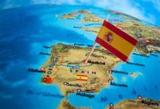 Landenvlag van Spanje. ANP XTRA LEX VAN LIESHOUT