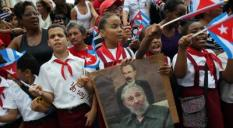 eerbetoon aan de overleden Cubaanse leider Fidel Castro