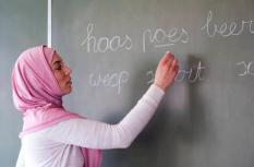 2011-04-10 15:11:39 ILLUSTRATIE - Islamitische juf. ANP XTRA ROOS KOOLE
