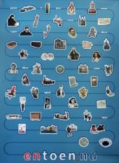 DEN HAAG - Van de 5000 jaar oude hunebedden tot de Nederlandse betrokkenheid bij de val van Srebrenica in 1995. Daartussen liggen nog 48 onderwerpen uit de Nederlandse geschiedenis en cultuur waarover scholieren meer te weten moeten komen. Deze vijftig 'vensters' op de Nederlandse cultuur vormen de canon van Nederland. Een commissie onder voorzitterschap van prof.dr. Frits van Oostrom, president van de Koninklijke Akademie van Wetenschappen (KNAW), heeft op verzoek van minister Maria van der Hoeven (Onderwijs) de lijst opgesteld. De commissie presenteerde deze maandag op een school in Voorburg. Van Oostrom zou graag zien dat in alle klaslokalen een grote wandkaart komt te hangen waarop de vijftig hoogtepunten op een tijdbalk staan afgebeeld. ANP PHOTO EVERT-JAN DANIELS