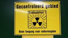 BORSELE - Kerncentrale Borssele. Waarschuwingsbord Het gecontroleerd gebied is het deel van de installatie waar zich radioactieve stoffen bevinden. Alleen onder toezicht van de stralingscontroledienst te betreden. ANP PHOTO KOEN SUYK