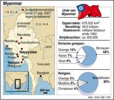 RIJSWIJK - Infografiek protest Myanmar. ANP PHOTO INFOGRAPHICS LUIZINK/GIDDING