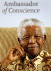 epa01414939 (FILE) A file picture dated 01 November 2006 of former South African President and Nobel Peace Laureate Nelson Mandela pausing for thought during a ceremony in which he received the Amnesty International Ambassador of Conscience Award from Nobel Literature Laureate Nadine Gordimer in Johannesburg, South Africa. Mandela turns 90 on 18 July 2008.  EPA/JON HRUSA