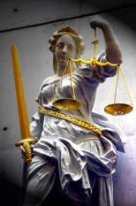 NLD-20040204-GRONINGEN: Vrouwe Justitia bij het Gerechtshof Groningen. ANPFOTO KOEN SUYK