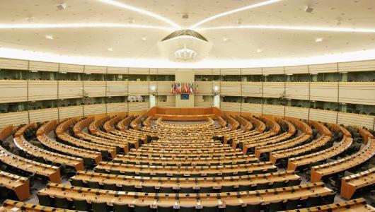 BRUSSEL - De grote vergaderzaal in het Europees Parlement. ANP PHOTO LEX VAN LIESHOUT
